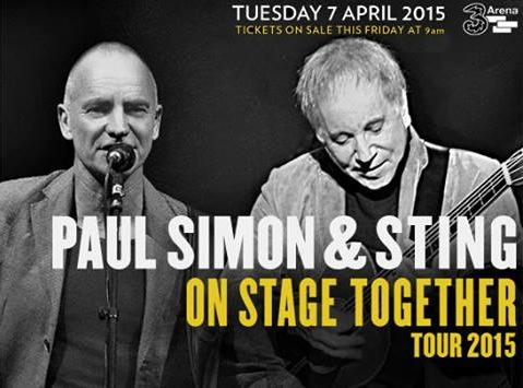 Music | Sting & Paul Simon to play 3arena in 2015