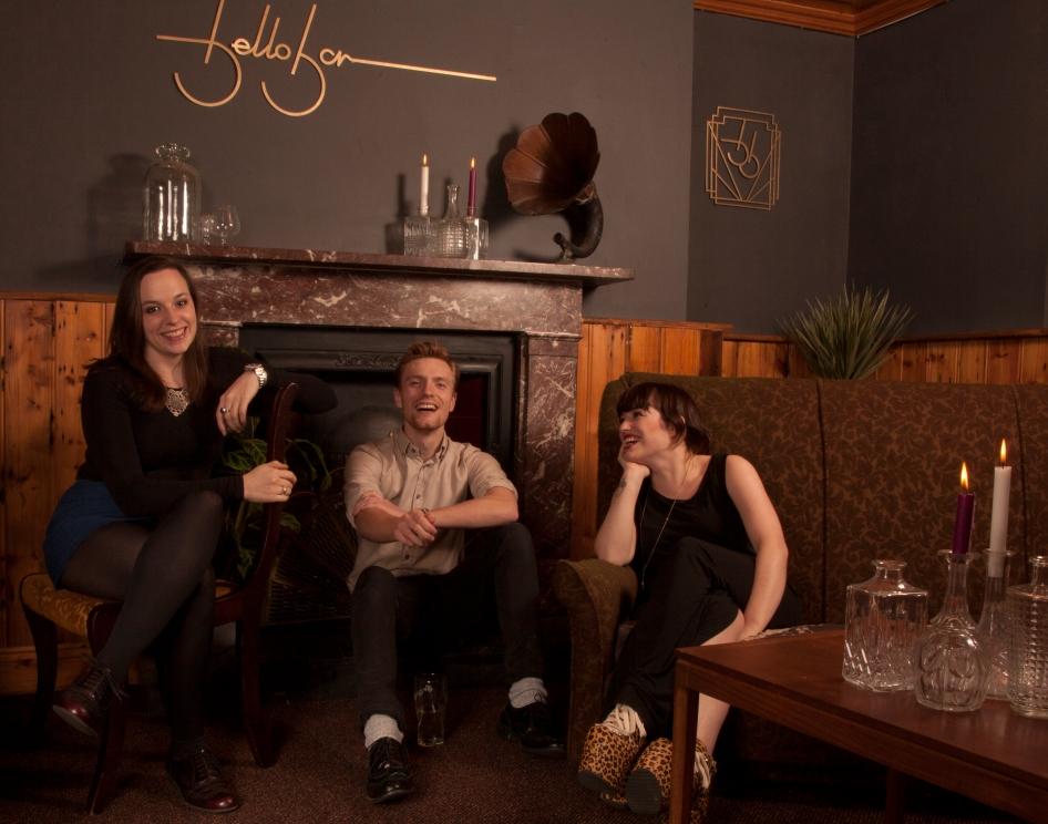 Anna, Shane, and Ciara at Bello Bar, Dublin 8.