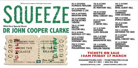 "Squeeze announce ""From The Cradle To The Grave Tour"", plus first album of new material for 17 years."