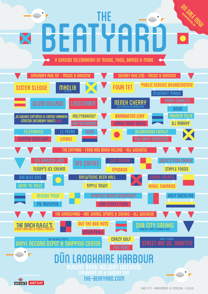 The Beatyard line up