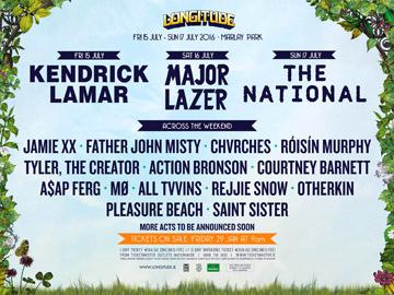 #Longitude2016 first acts announced.