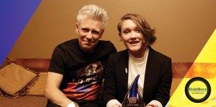 The Choice Music Prize Irish Album of the Year 2015 Winner SOAK with Adam Clayton. Photo: Graham Keogh