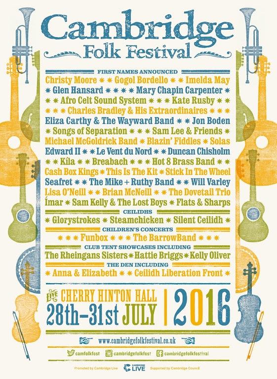 Cambridge Folk Festival poster 2016