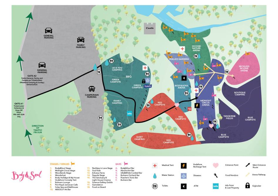 Body&Soul 2016 Map