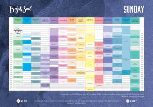 Body&Soul Sunday Line Up