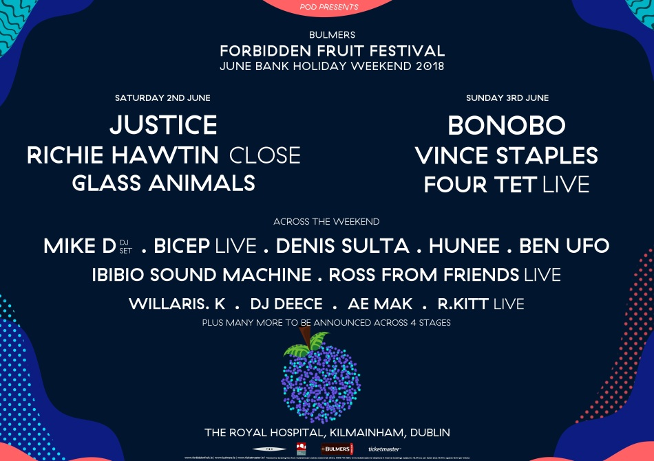 Forbidden Fruit day-by-day line up for 2018.